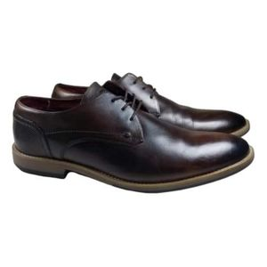 BASE LONDON RIDDLY BROWN LEATHER DRESS SHOES